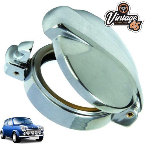 Classic Mini Cooper Fuel Cap Petrol Filler Neck Cover Chrome Flip Monza Style