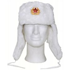 mfh inverno russo  Mfh Inverno Russo Cappellino Bianco con Badge Taglia XL | Acquisti ...