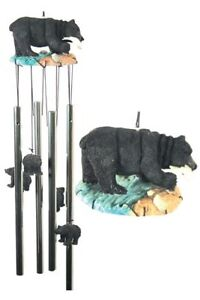 WIND-CHIME-20-034-BEAR-20-034-Tall-Full-Color-Gift-Box-Black-Bear-Cabin-Patio-Decor