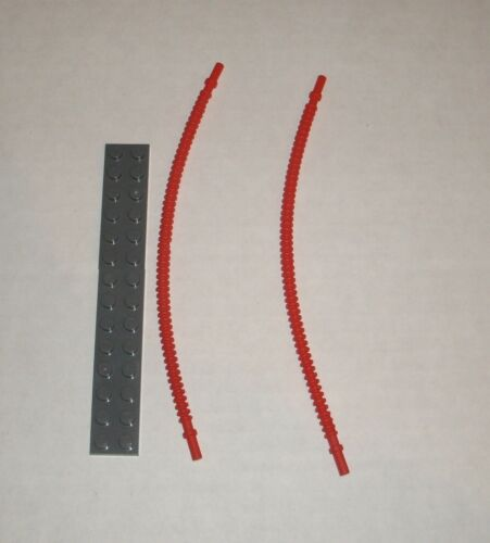 19 Studs Long 6055410 NEW LEGO Brick 14925 Red Flexible Ribbed Hose 2x