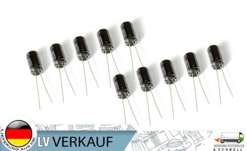 10Stück Elektrolytkondensator Elko 50V 4,7UF f Arduino Raspberry Pi Prototyping