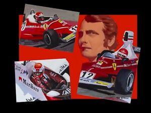 Canvas-Niki-Lauda-3-times-World-Champion-by-Toon-Nagtegaal-LE-black