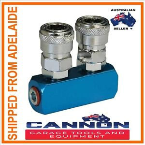 NITTO-STYLE-2-WAY-AIR-FITTING-SOCKET-HOSE-COMPRESSOR-AIR-LINE-COUPLER-MANIFOLD
