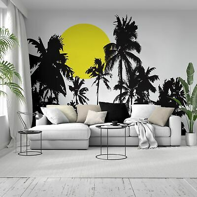 Tropical Night Sunset Palm Tree Wall Decal 376 Ebay