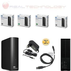 HARD-DISK-ESTERNO-3-5-034-WESTERN-DIGITAL-2TB-3TB-4TB-5TB-ELEMENTS-HD-CAVO-3-0