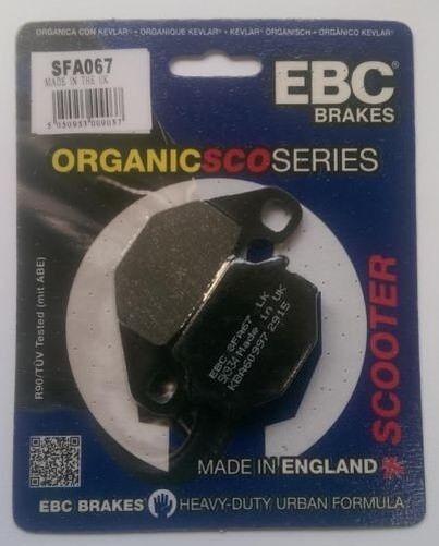 Peugeot Django 150 Allure (2014 to 2015) EBC Organic REAR Brake Pads (SFA67)
