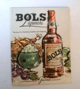 1960s BOLS LIQUEURS fold out Cordial recipe booklet