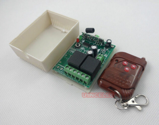 12V 2 Channels wireless remote control relay module 3 buttons x1pcs