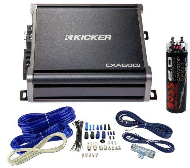 kicker 43cxa6001 600 watt rms monoblock amp mono amplifier wiring rh ebay com