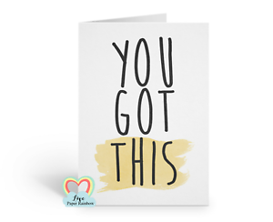 exams you got this motivational positive quote job interview good luck card