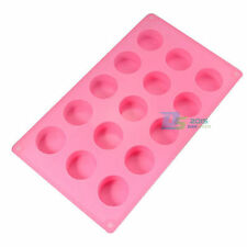 15 Cav Round Cylinder Silicone Mould Soap Cake Chocolate Pudding Mold DIY Craft