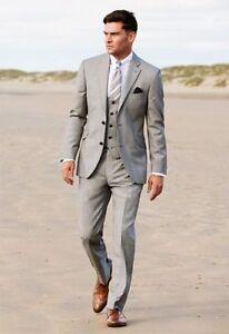 Business 2018 Grey Groom Tuxedos Best Man Slim Suit Formal Wedding ...