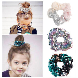 Fashion-Sequins-Hair-Tie-Girls-Women-Elastic-Hair-Rope-Hair-Ring-Ponytail-Holder