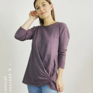 Stateside Plum Twist Hem Top Women's Size Medium