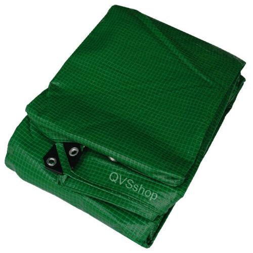 4M X 5M GREEN TARPAULIN COVER GROUNDSHEET Waterproof Poly Tarp with Eyelets