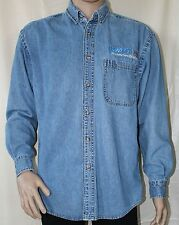 US West Telephone Medium Blue Denim Long Sleeve Shirt