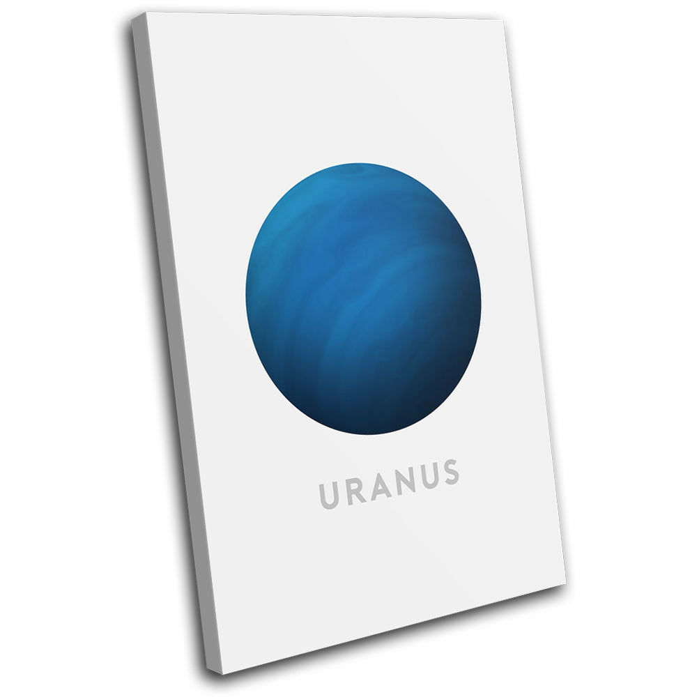 Planets Uranus Modern Cosmos Space SINGLE TELA parete arte foto foto foto stampa a1fb84