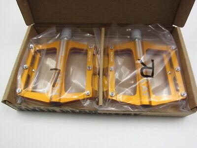 SMS0.1plus Gold Aluminum XC AM MTB Road Bike Bearing Pedals flat Pedal 100*98