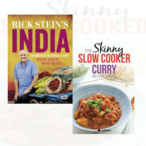 Rick-Stein-039-s-India-2-Books-Collection-Set-Skinny-Slow-Cooker-Curry-Recipe-New