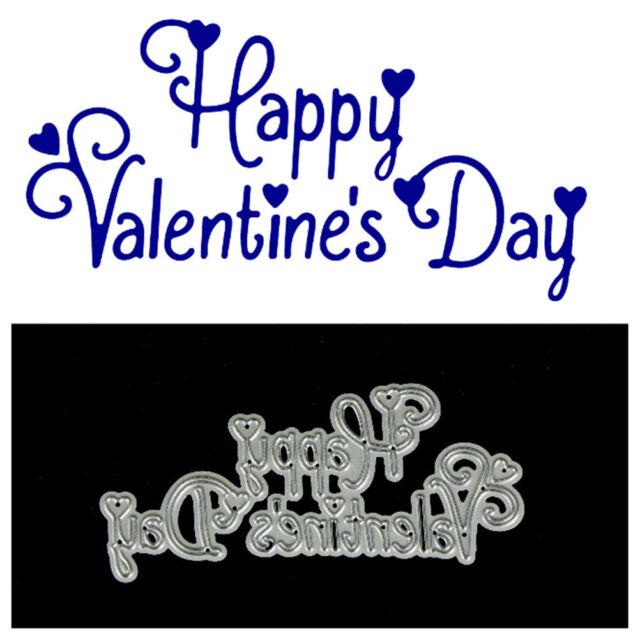 Happy Valentine Day  Metal Cutting Dies For DIY Scrapbooking Album Paper Card ME