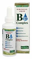 2 Pack Nature's Bounty Vitamin B Complex Sublingual Liquid 2 Oz Each on sale