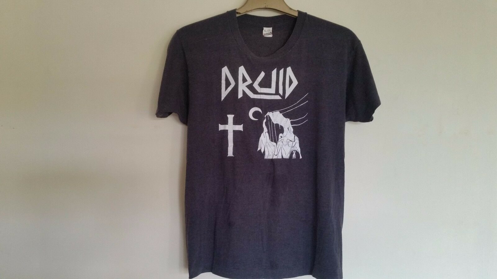 Vintage Original DRUID - 1980's T-Shirt (Vampire Cult/Four Curses) - MEGA RARE