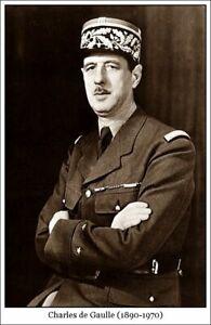 Plaque métal    général de Gaulle  30 X 20 CM