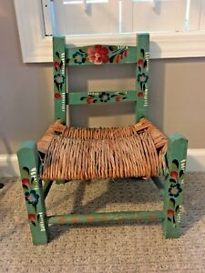 Image Is Loading Vintage Mexican Folk Art Child 039 S Chair