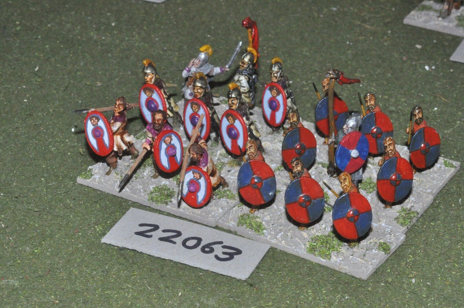 25mm roman era   roman - late auxiliaries 18 figs infantry - inf (22063)
