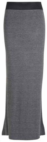 New WOMENS Ladies plain  Gyps Maxi Skirt FULL length skirt plus size