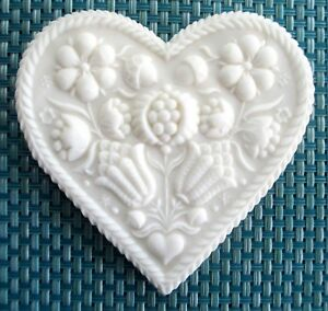 Details About Springerle Speculaas Butter Cookie Paper Print Stamp Press Mold Wedding Heart 2