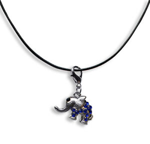 Leder-Halskette-40-75cm-mit-Charm-Anhaenger-Elefant-2-3-x-1-8cm-669l