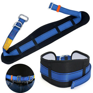 Adjustable Safety Rock Climbing Fall Protection Waist Belt Harness D-Ring Gear #