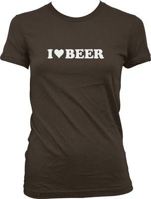 I Love Beer Heart /<3 Block Letters Party Drunk Bar Pint My Birra Juniors T-Shirt