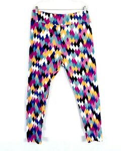 Leggings Kleidung & Accessoires Independent Euc Lularoe Bunt Damen Dehnbar Argyle Diamantenmuster Stretch-leggings Os Easy To Repair