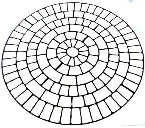 "89/"" Cobble Circle Kreisschablone Betonschablone"