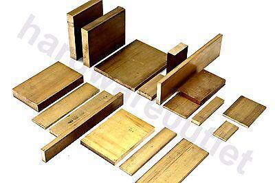 """3"""" x 1/2"""" Solid Brass Flat Bar 100 mm - 250 mm Lengths CZ121"""