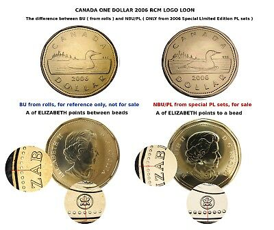 Loon 2006 RCM $1 Proof Like Mint RCM LOGO ONLY from special PL set