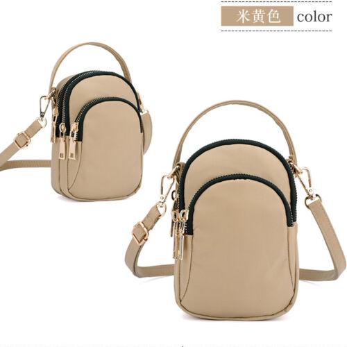 Cross-body Earphone Mobile Phone Shoulder Bag Pouch Case Handbag Purse Wallet