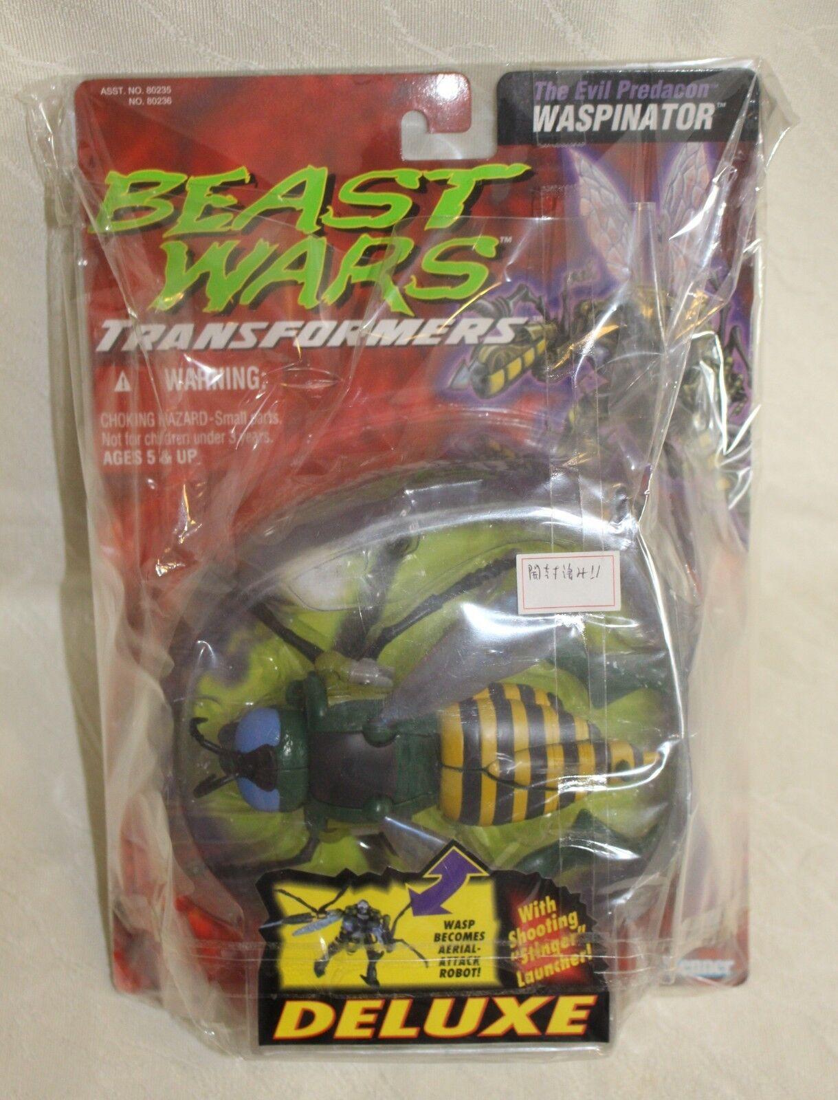 últimos estilos Transformers Transformers Transformers Beast Wars Waspinator Kenner 1995 Vintage Deluxe Menta Abierto tarjeta  comprar descuentos