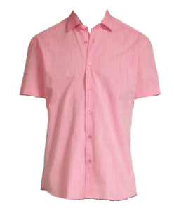 Bertigo Pink Floral Trim Cotton Stylish Men's Shirt Sz XL 5 NEW