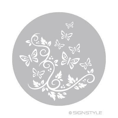 Airbrush Schablonen Mylar Torte 1 Floral Ranke Schmetterling Tortenschablone D24