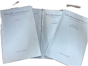 The Pyramid texts By Samuel AB Mercer 1952 1st edition Rare 4 volumes