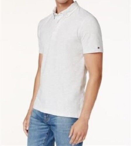 Tommy Hilfiger Men/'s Short-Sleeve Custom-Fit Byron Pique Polo Ice Gray Heather