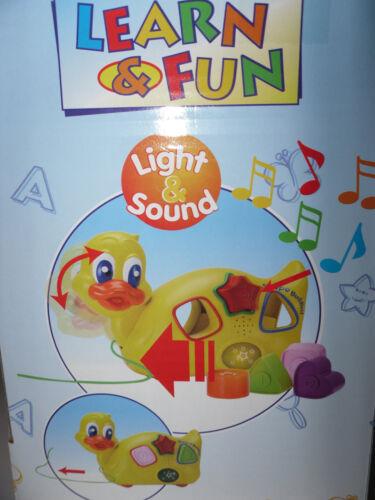Neu OVP * Motorik Lern Spielzeug Licht und Sound Stecktier Ente