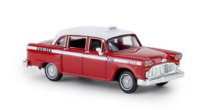 Brekina-58930-Checker-Cab-034-Fire-Chief-034-From-Drummer-Car-Model-1-87-H0