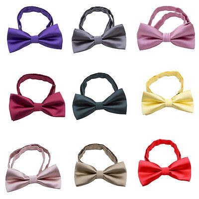 Children Boys Kids Pre-tied Solid Bow Tie Necktie Bowtie For Party Wedding