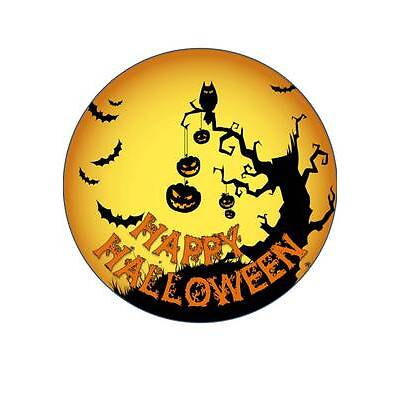 7.5 INCH APPROX 19 CM HALLOWEEN #1 EDIBLE RICE PAPER CAKE TOPPER