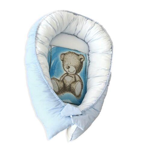 Newborn Baby Nest Cocoon Bear Nest Breathable with Mattress 80cm x 45cm x 15cm