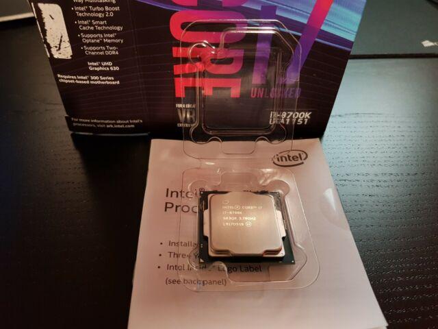 Intel Core i7 8700K 3.7GHz Hexa Core LGA1151 CPU